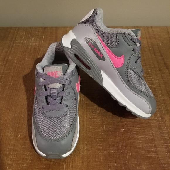Nike Air Max 90 Mesh Grey Pink 8C TD Girl